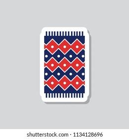 carpet sticker icon