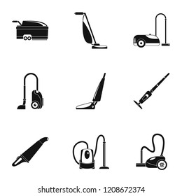 Carpet sweeper icon set. Simple set of 9 carpet sweeper vector icons for web design on white background
