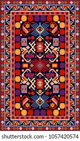Carpet vector.Carpet pattern,texture and background.Azerbaijan national carpet vector.