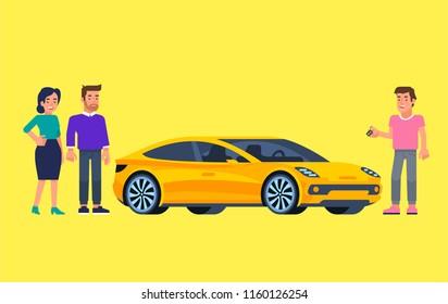 Carpool Car Sharing Concept Banner Flat Stock Vector Royalty Free
