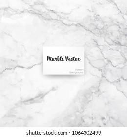 Carrara white marble texture background. Vector illustration