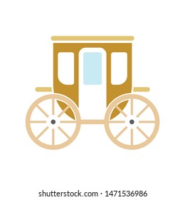 carriage icon. flat illustration of carriage - vector icon. carriage sign symbol