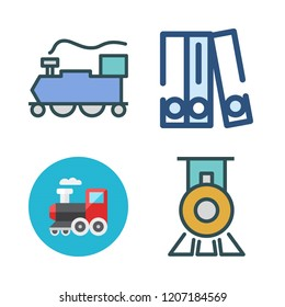 carriage icon set. vector set about blinder and train icons set.