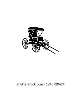 carriage vector icon. carriage sign on white background. carriage icon for web and app