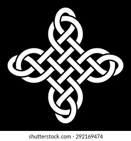 Carrick Bend knot (Sailor's breastplate knot, designed to bring good luck). Vector illustration.