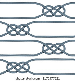 Carrick bend pattern