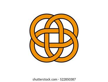 Carrick Mat. Carrick Mat knot. Carrick Mat symbol