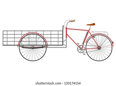 Carrier bicycle silhouette on a white background.