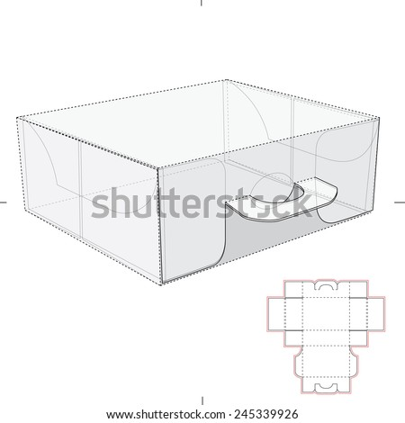 carrier box handles die cut templates stock vector royalty free