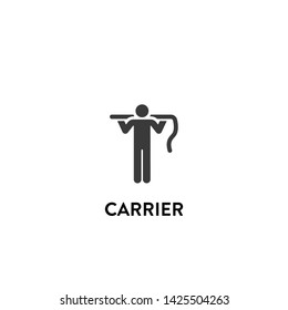 carrier icon vector. carrier vector graphic illustration
