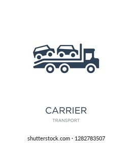 carrier icon vector on white background, carrier trendy filled icons from Transport collection, carrier vector illustration