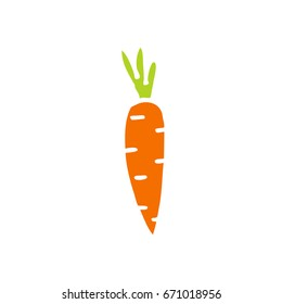carrot doodle icon
