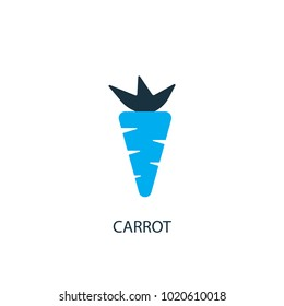 Carrot icon. Logo element illustration. Carrot symbol design from 2 colored collection. Simple Carrot concept. Can be used in web and mobile.