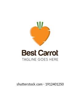 Carrot logo and healthy vegetable icon vector illustration best logo design