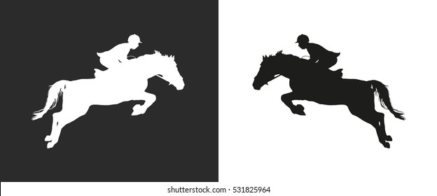 Carrying out horse with horseman vector.