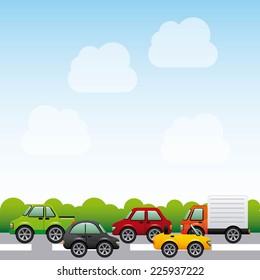 cars graphic design , vector illustration