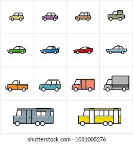 Cars Icon Sets Minimalis Lineart