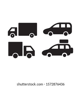 Cars icon vector in simple style design