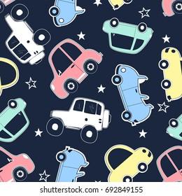 cars pattern illustration vector.