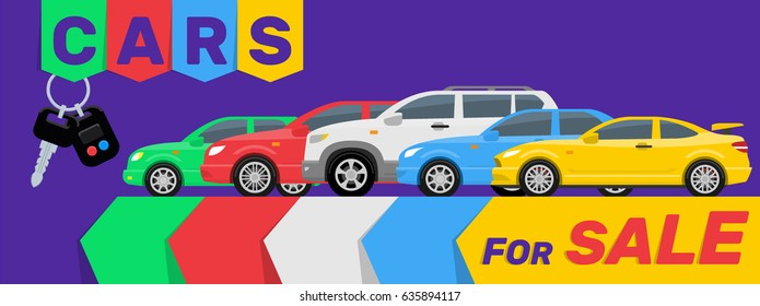 cars for sale modern banner design