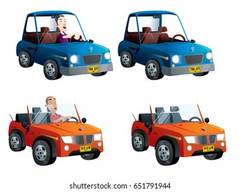 cars set convertible