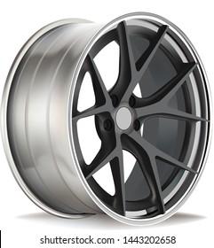 Cars sports rim and wheels