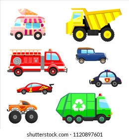 Cars and trucks set