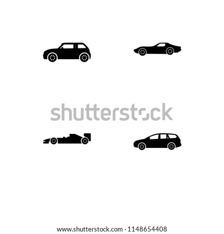 Cars Types Cars Set Outline Icon Stock Vector Royalty Free