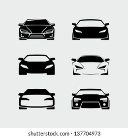 Sports Car Front View Isolated Stock Vectors Images Vector Art