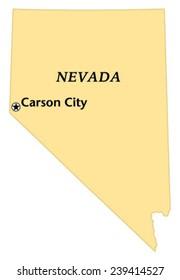 Carson City, Nevada locate map
