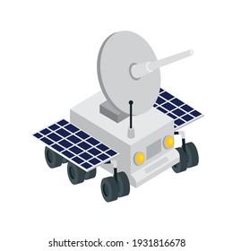 cart with antena isometric icon