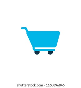 Cart icon colored symbol. Premium quality isolated shopping trolley element in trendy style.