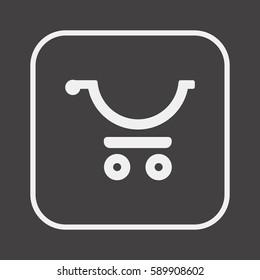 Cart   icon, isolated. Flat  design.