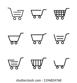 cart icon set