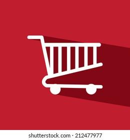 cart mart flat icon  vector illustration eps10