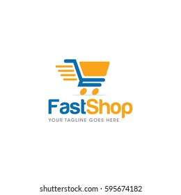 cart shop  logo icon vector template