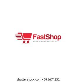 cart shop  logo icon vector template