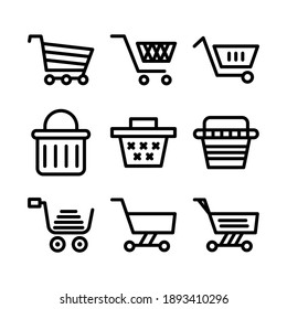 cart shopping icon or logo isolated sign symbol vector illustration - Collection of high quality black style vector icons