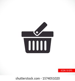 Cart vector icon, buyer sign isolated on vector icon a white background. vector icon Online store or e-shop concept. Flat design style