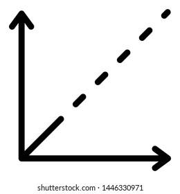 Cartesian axes icon. Outline cartesian axes vector icon for web design isolated on white background