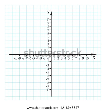 Cartesian Coordinate System Plane 0 10 Stock Vector Royalty Free