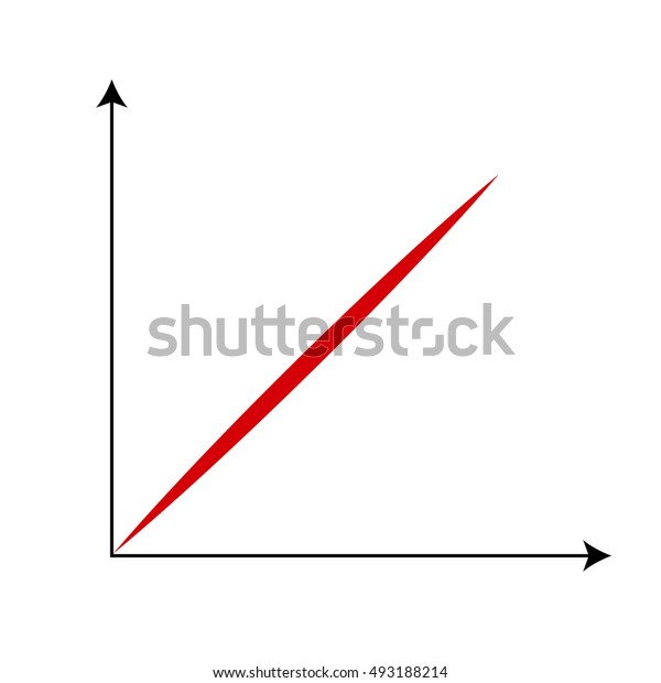 Cartesian Coordinate System With Red Line.