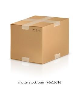 Carton box, vector