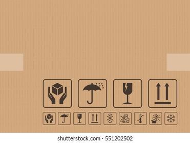 Carton cardboard box icons
