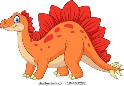Carton happy stegosaurus