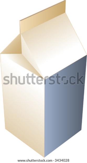 Carton of milk, illustration in isometric 3d style