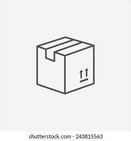 Carton Package Box icon