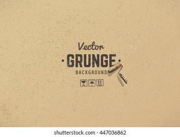 Carton textured grunge background. Grain noise vector texture.