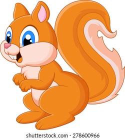 Cartoon adorable squirrel