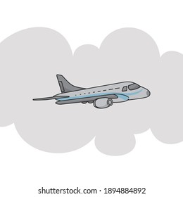 The cartoon airplane design is suitable for your company or business